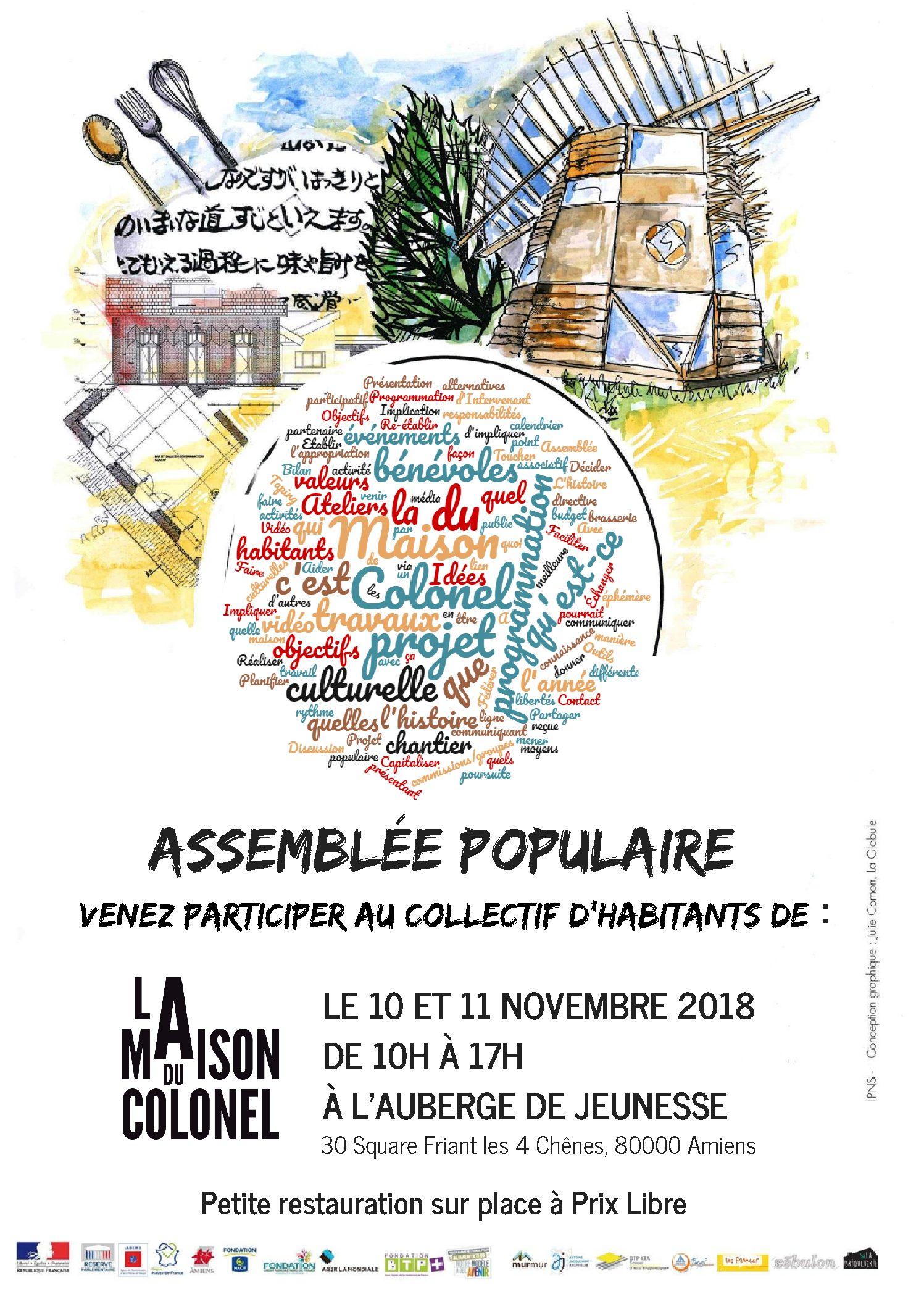 Affiche Assemblée populaire V3